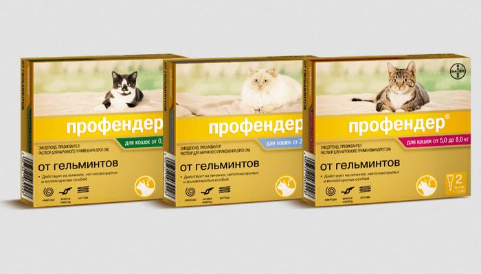 профендер от глистов для кошек