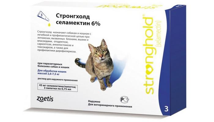 стронгхолд против ушного клеща у кошек