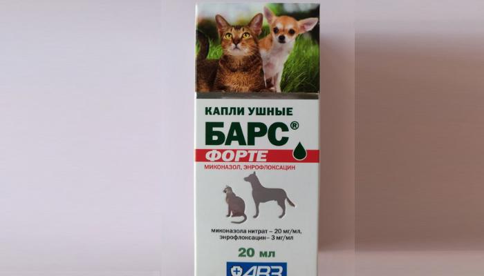 барс форте капли от отита для кошек