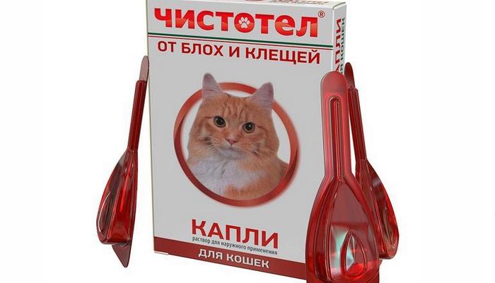 чистотел от блох для кошек