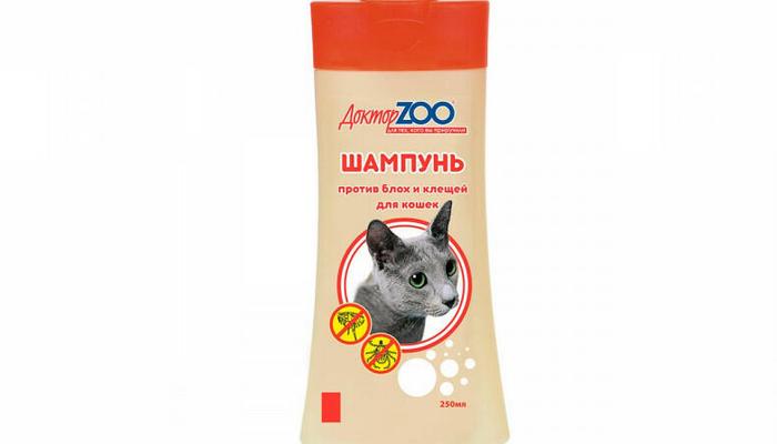 доктор зоо шампунь от блох для кошек