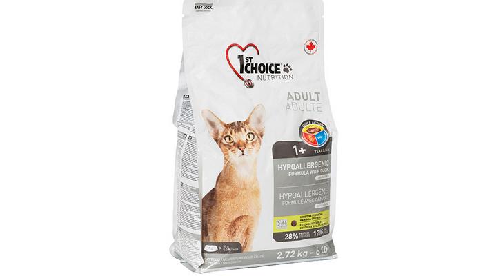 фест чойс гипоаллергенный корм для кошек