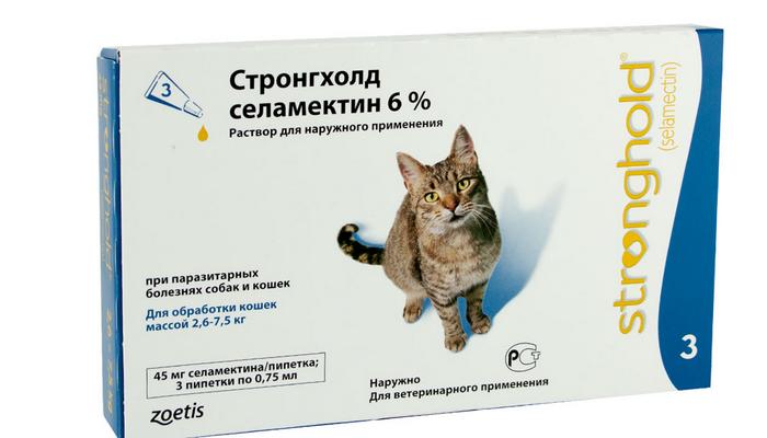 стронгхолд от блох для кошек